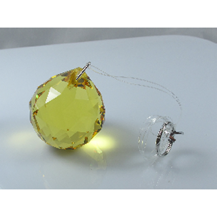 40mm Crystal Sphere Black Box - Yellow