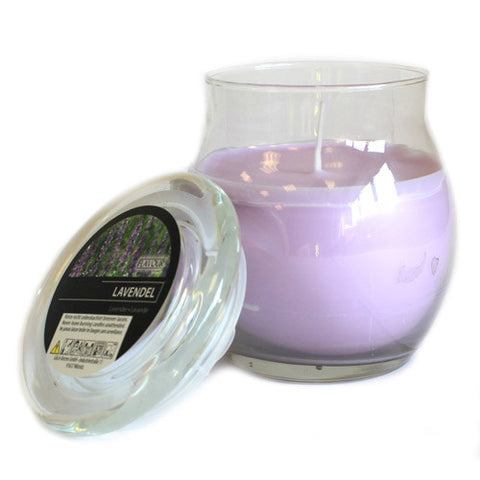Scented Large Glass Jar Candle - Lavender
