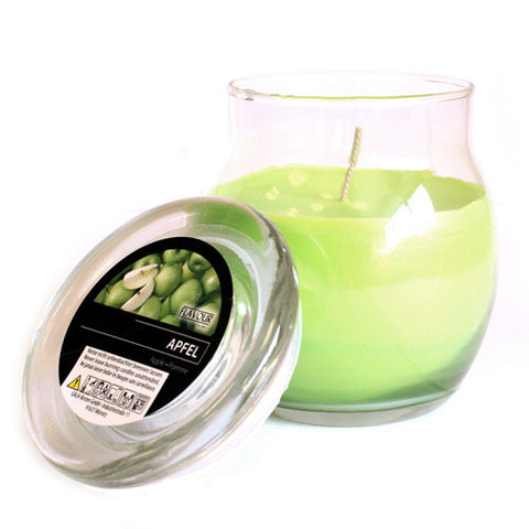 Scented Large Glass Jar Candle - Apple