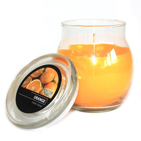 Scented Large Glass Jar Candle - Orange