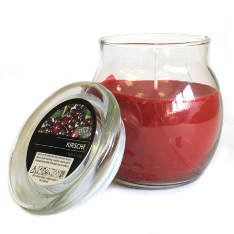 Scented Large Glass Jar Candle - Cherry