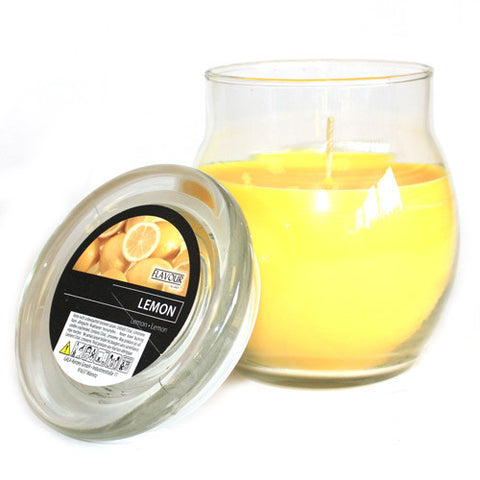 Scented Large Glass Jar Candle - Lemon