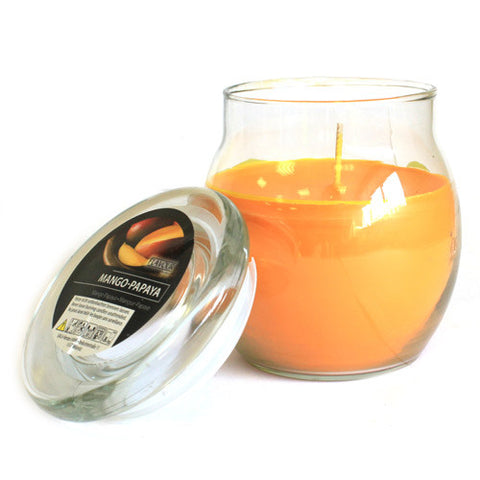 Scented Large Glass Jar Candle - Mango Papaya