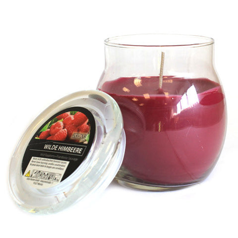 Scented Large Glass Jar Candle - Wild Raspberry