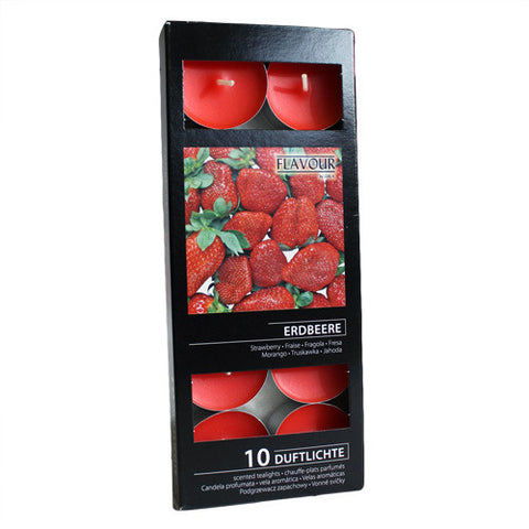 Scented Nightlights - Strawberry - 10 Per Pack