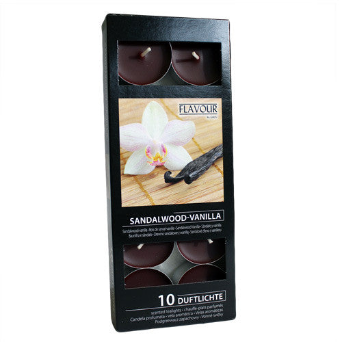 Scented Nightlights - Sandalwood & Vanilla - 10 Per Pack