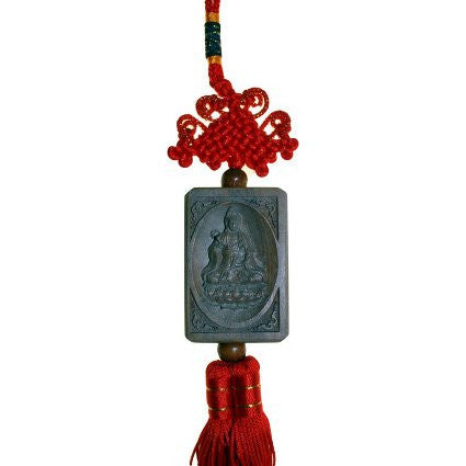 Buddha Wood Carving Tassel -Green Sandalwood