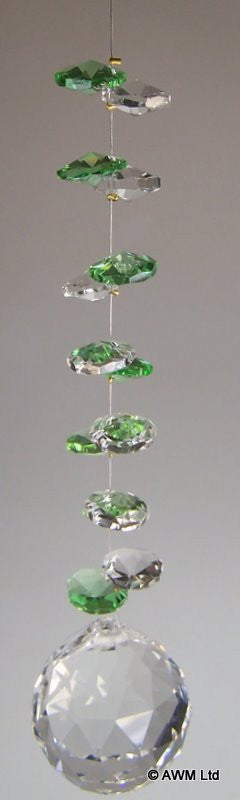 Emerald & Clear Cluster With Sphere