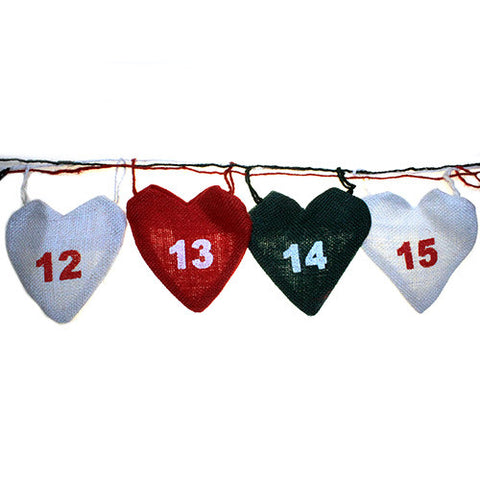 Christmas Hearts Advent Calendar