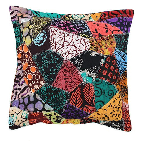 2x Java Batik Patchwork Cushion 60x60cm