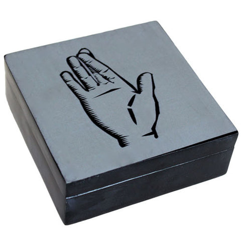 Lucky Stone Box - Crossed Finger