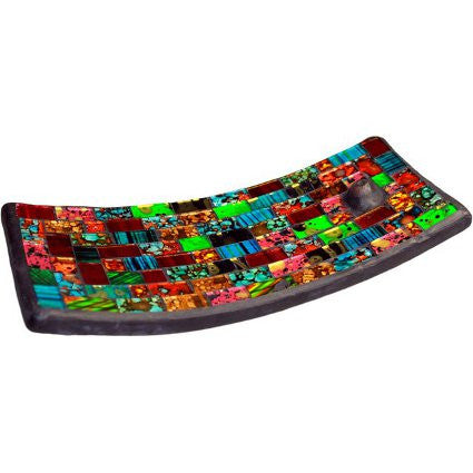 Mosaic Incense Plate - Multi Nature