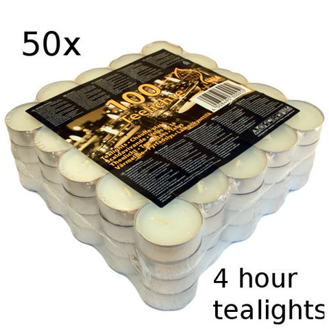 50x Tealights - 4 hour