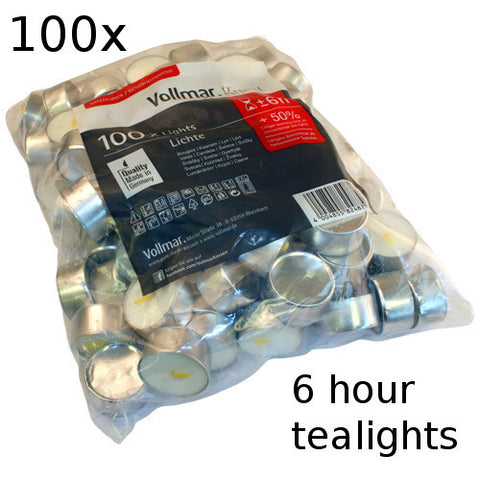 100x Tealights - 6 hour