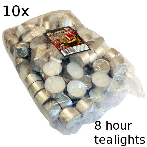 10x Tealights - 8 hour