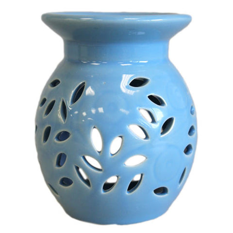 Floral Oil Burner - blue