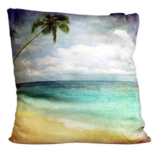 Art Cushion Cover - Tropical Shore - Grunge