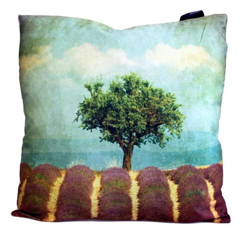 Art Cushion Cover - Lavender Field - Grunge