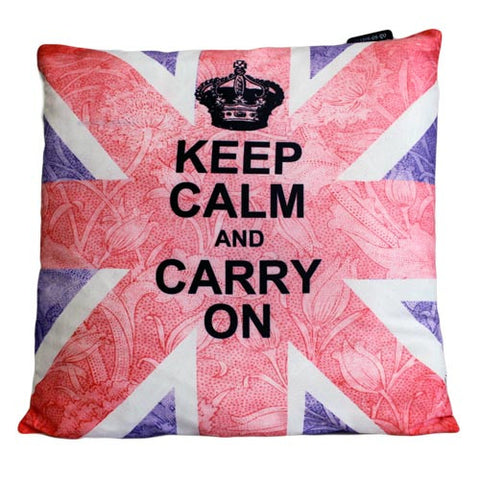 Art Cushion Cover - Keep Calm & Carry On