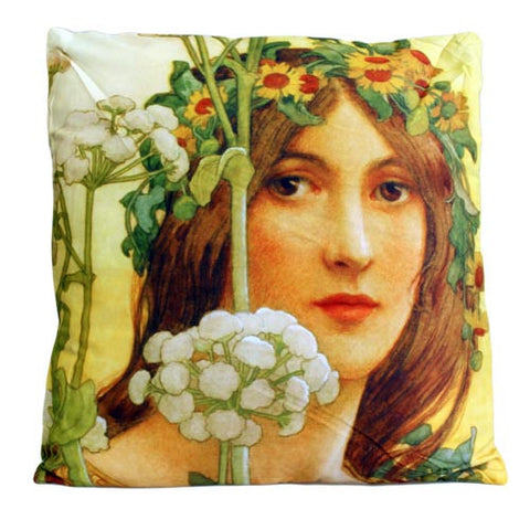 Art Cushion Cover - Our Lady of Cow Parsley - Elisabeth Sonrel