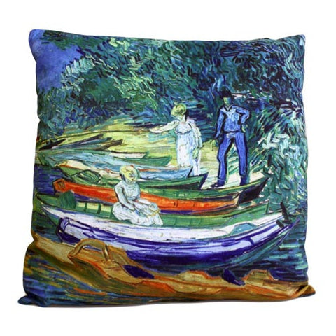 Art Cushion Cover - Rowing Boats - Van Gogh