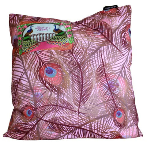 Art Cushion Cover - Lilac Peacock