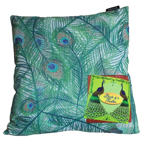 Art Cushion Cover - Moss Peacock