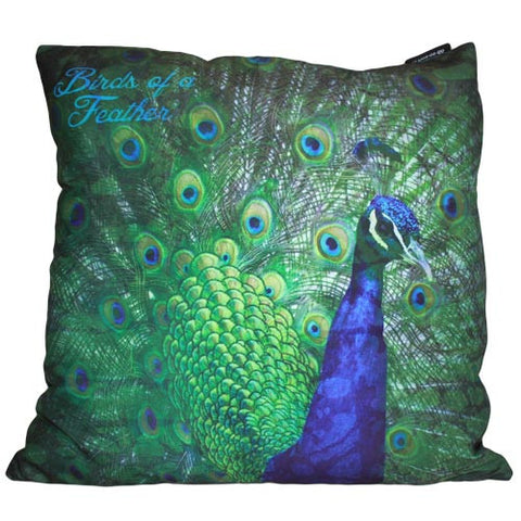 Art Cushion Cover - Fan Peacock