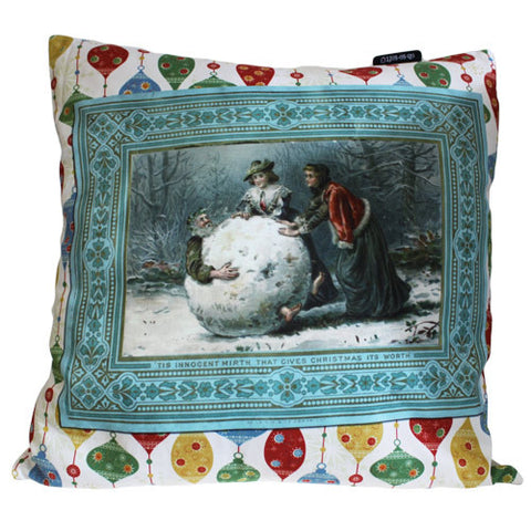 Art Cushion Cover - Innocent Mirth - Retro Christmas