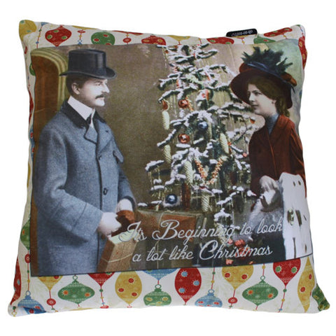 Art Cushion Cover - It's Beginning - Retro Christmas