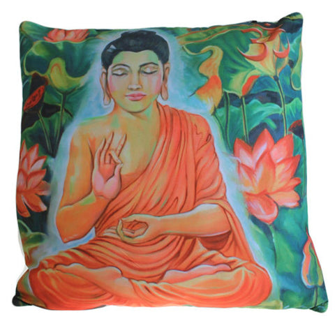 Art Cushion Cover - Calm Jungle Buddha