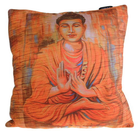 Art Cushion Cover - Peace Wood Buddha