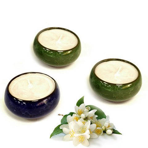 Tea Cup Candles (pack 3) - Jasmine Tea