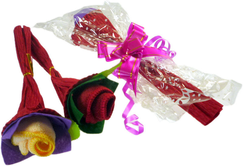 Single Rose Towel Gift Asst