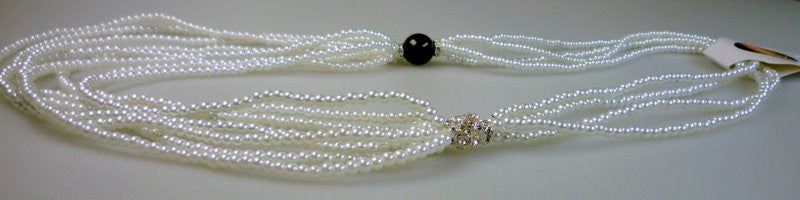 Perilous Pearls Black Pearl Drama Necklace