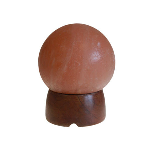 Himalayan Salt Lamp Sphere - Wooden Base