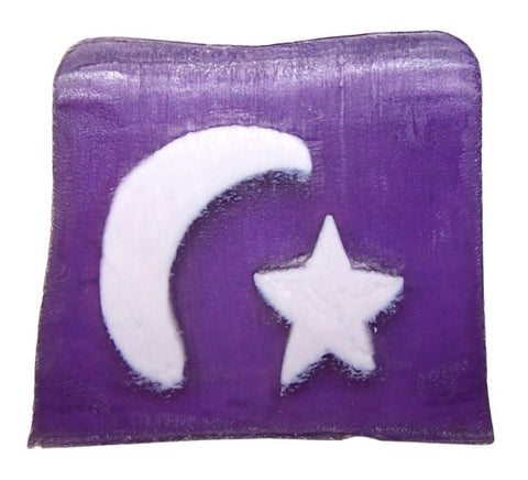 Moon&Stars Soap - 115g Slice (white lavender)