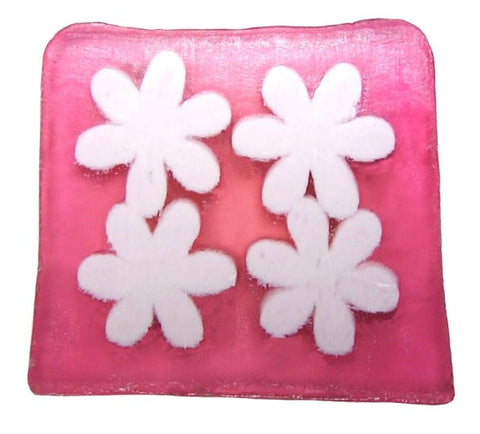 Flower Power Soap - 115g Slice (dewberry)