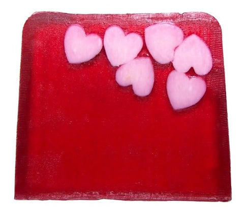 Happy Hearts Soap - 115g Slice (tuberose)