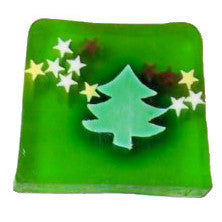 Christmas Trees & Stars Soap - 115g Slice