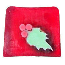 Christmas Holly Leaf Soap - 115g Slice