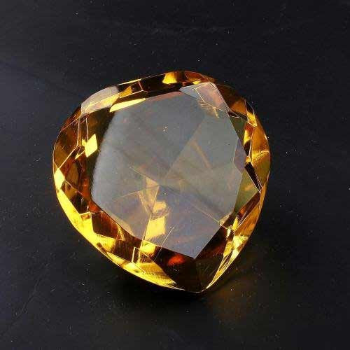 Plain Yellow Crystal Heart