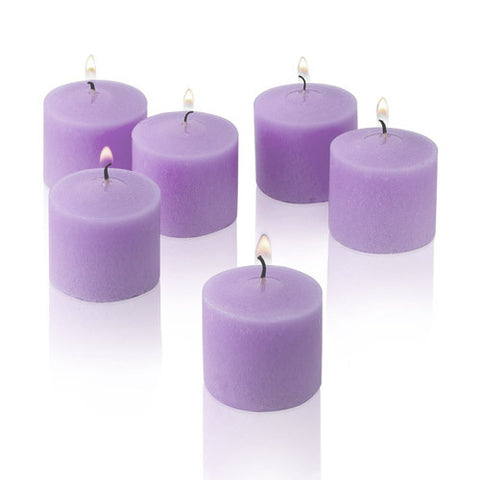 1x pack of 12 Scented Votive Candles - Lavender