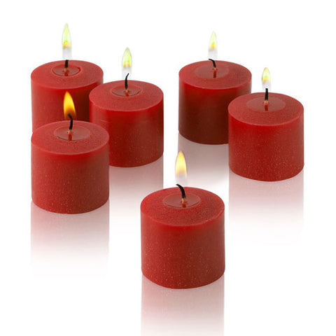 1x pack of 12 Scented Votive Candles - Strawberry
