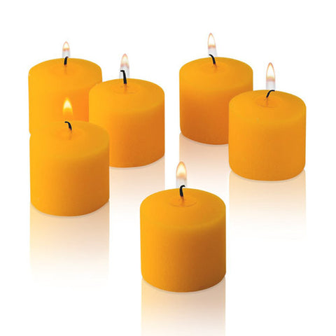 1x pack of 12 Scented Votive Candles - Peach