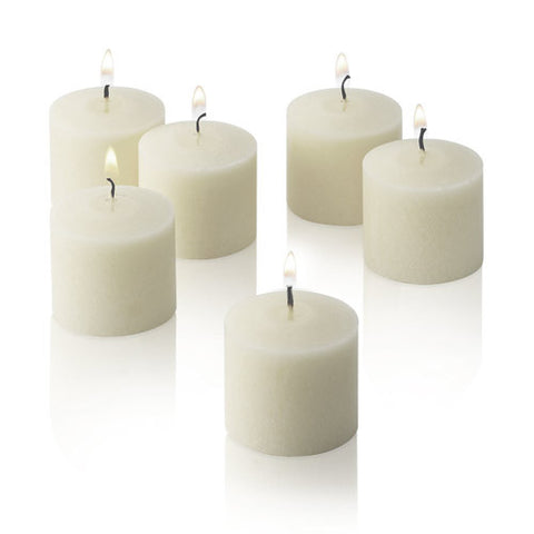 1x pack of 12 Scented Votive Candles - Fresh Linen
