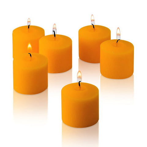 1x pack of 12 Scented Votive Candles - Orange