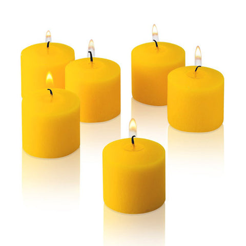 1x pack of 12 Scented Votive Candles - Lemon