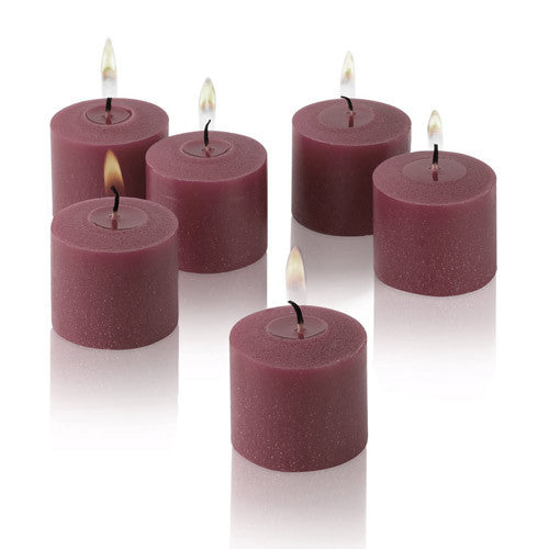 1x pack of 12 Scented Votive Candles - Wild Raspberry