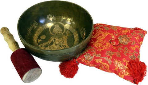 Brass Golden Tara - Special Singing Bowl Set